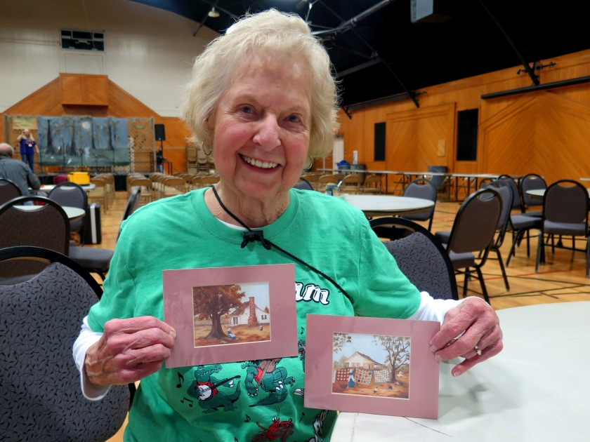 Joyce Badell and small prints - IMG_2445