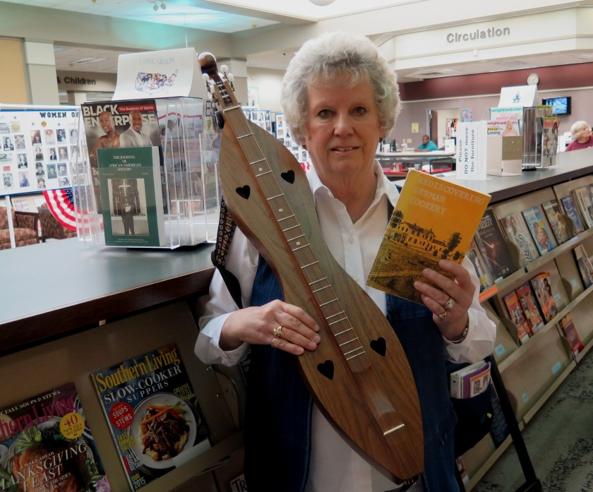 Jan with dulcimer and book - IMG_6182